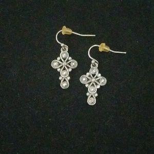 Jewelry - Pair of silver Cross earrings